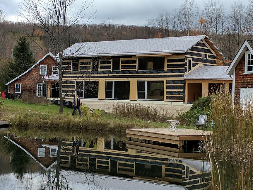 Pretty river passive house
